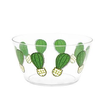 Transparent cactus salad bowl