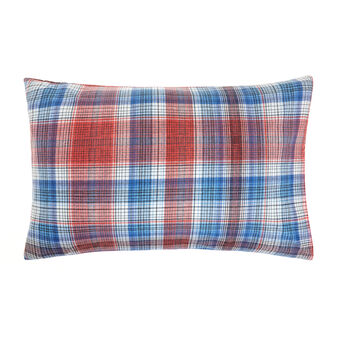 Pillowcase in 100% cotton with tartan print