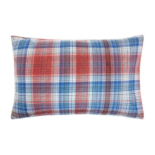 Pillowcase in 100% cotton with tartan print
