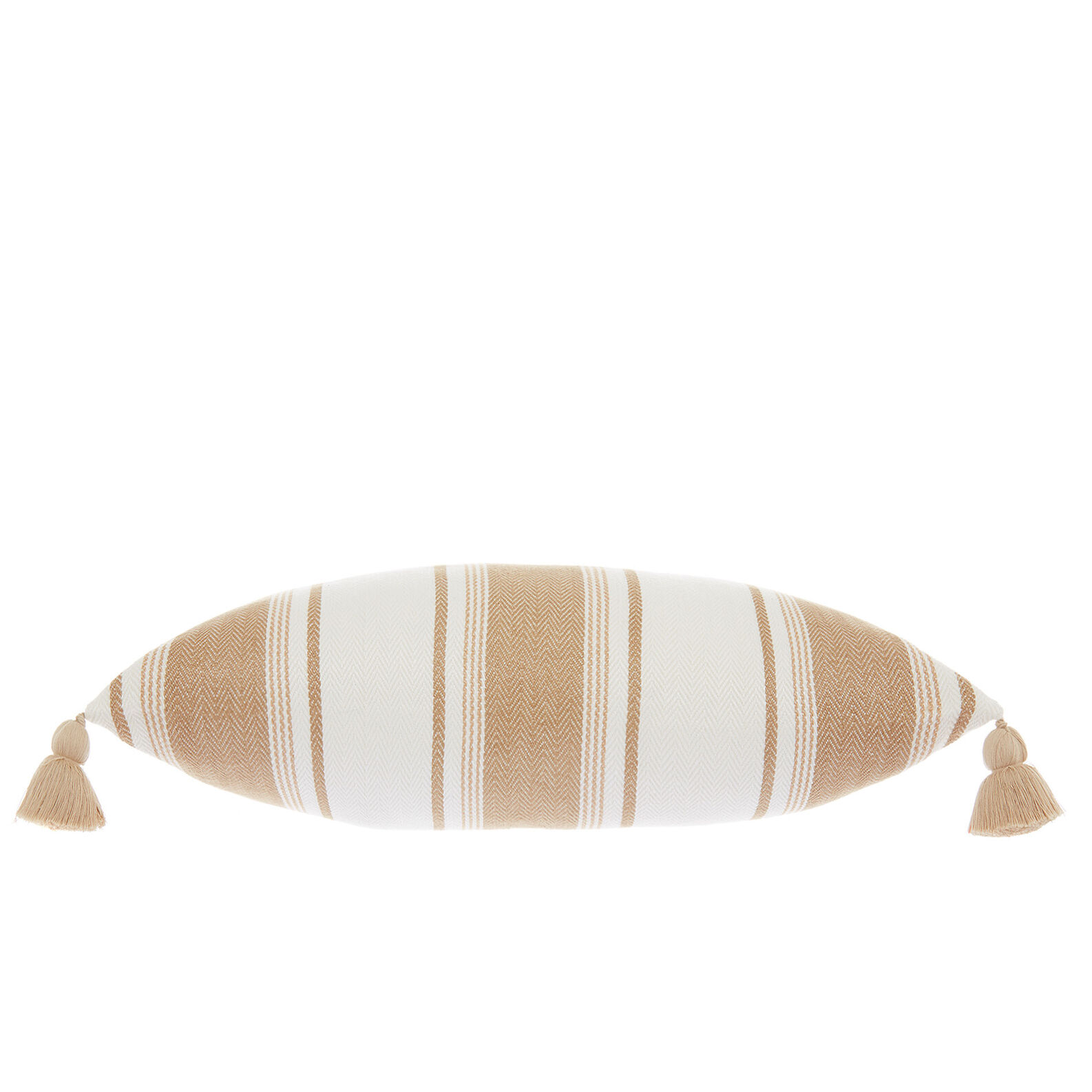 Striped linen and cotton cushion 35x55cm