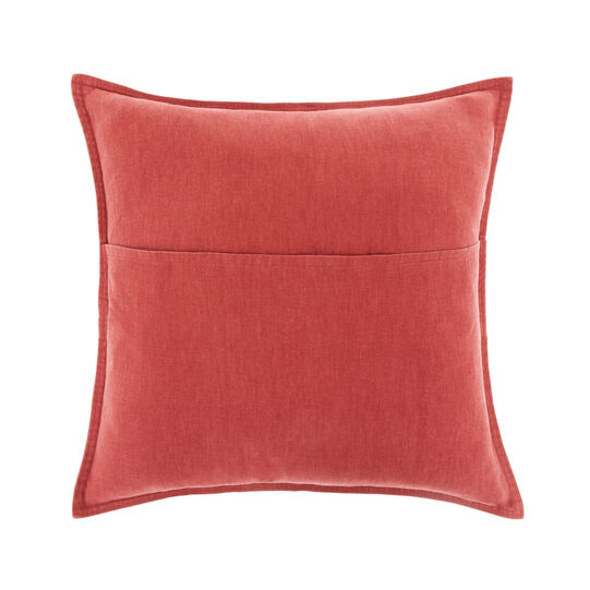Washed cotton cushion cover (45x45cm)
