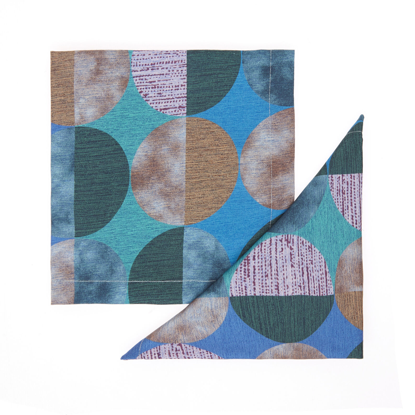Two-pack napkins in cotton twill with circles print