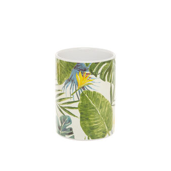 Portaspazzolini ceramica motivo foglie
