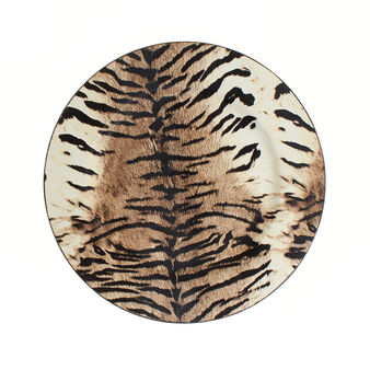 PVC charger plate with animal print design