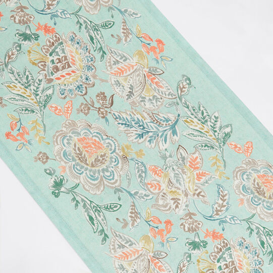Table runner with digital floral print