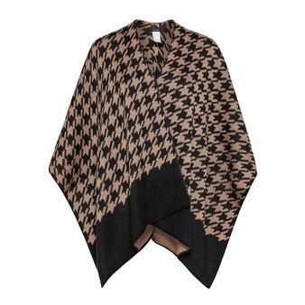 Koan pied-de-poule knit cape