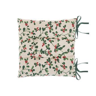 Cuscino da sedia puro cotone stampa vischio