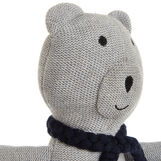 Teddy bear soft toy in knitted cotton