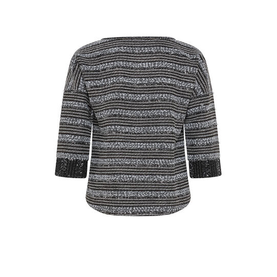 Striped patterned T-shirt with lurex