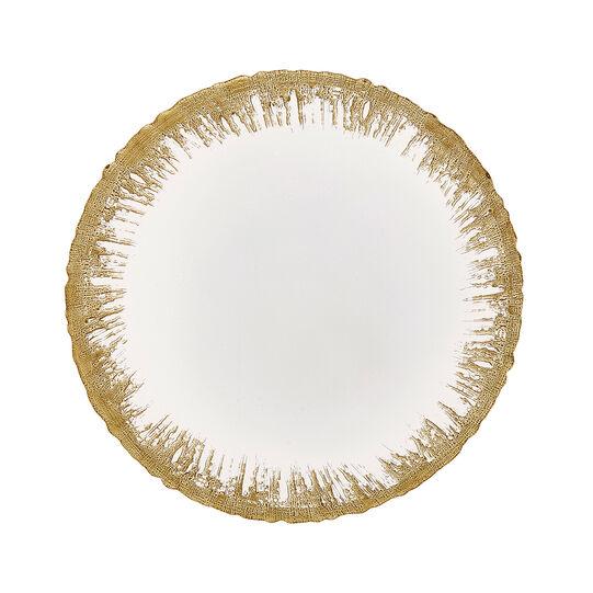 Piatto da portata vetro bordo oro