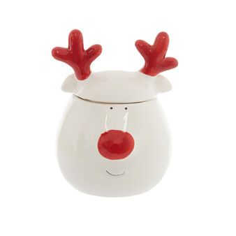 Rudolph ceramic biscuit jar