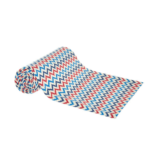 100% cotton throw with zigzag print