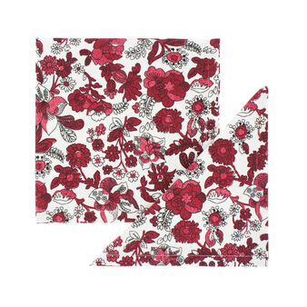 2-pack napkins in 100% cotton with floral print
