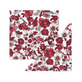 Set 2 tovaglioli puro cotone stampa fiori