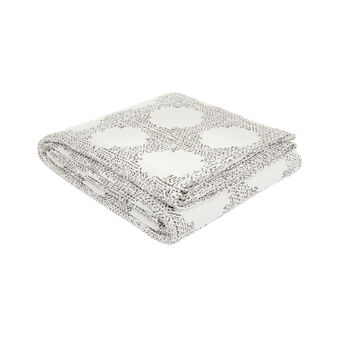 100% cotton bedspread with geometric motif
