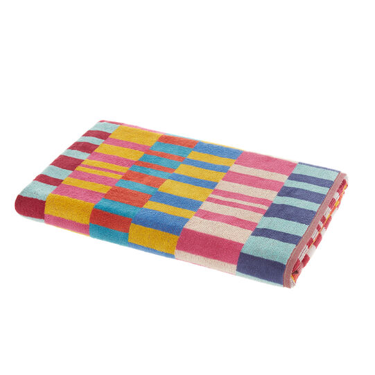 Abstract motif velour cotton towel