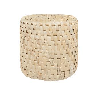 Hand-woven abaca pouf