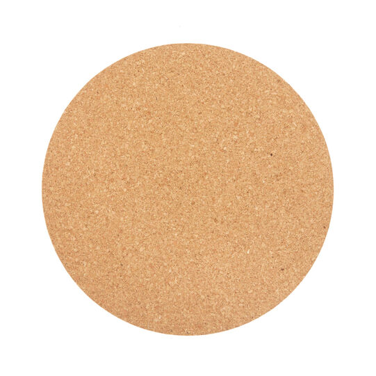 Round cork table mat