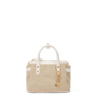 Koan handbag in cotton canvas