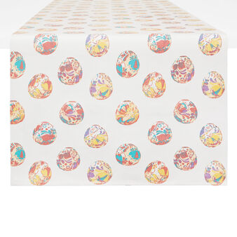 100% cotton table runner with Easter print