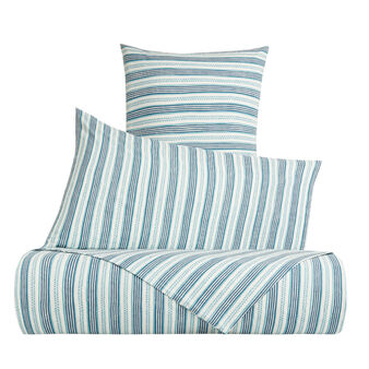 Pillowcase in organic cotton with striped pattern