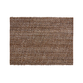 Woven table mat in 100% cotton mélange
