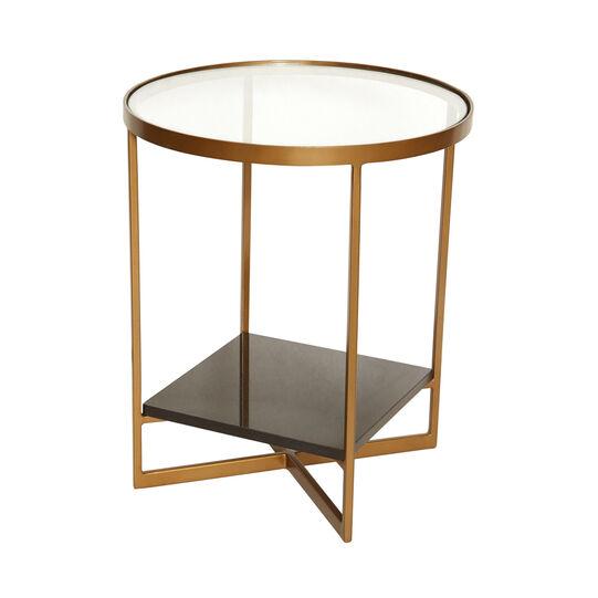 Tavolino in vetro e marmo Side