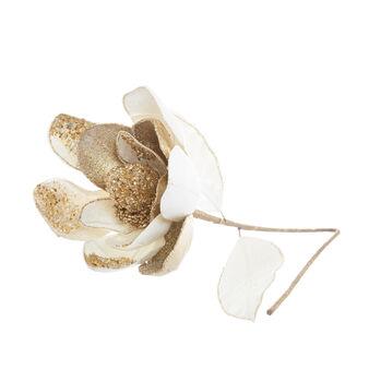 Hand-decorated glitter magnolia flower