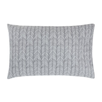 Cotton percale pillowcase with feather pattern