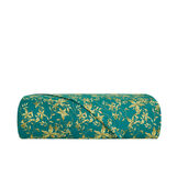 Flat sheet in cotton satin with floral pattern