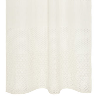 Curtain in pure linen and broderie anglaise