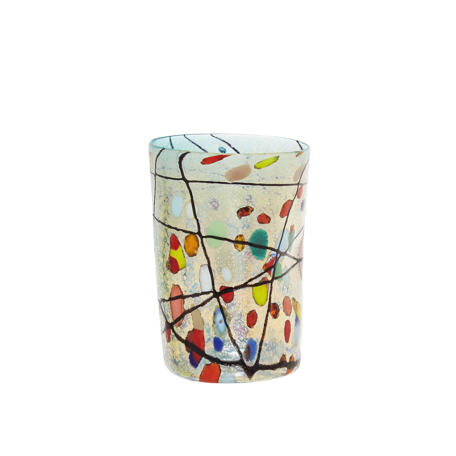 Murano glass tumbler with Kandinsky decoration