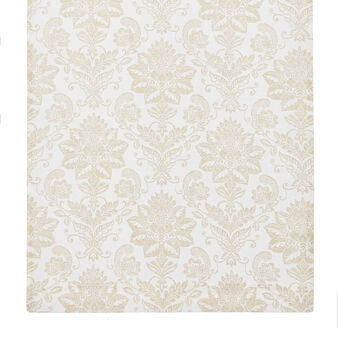 100% cotton curtain with damask print