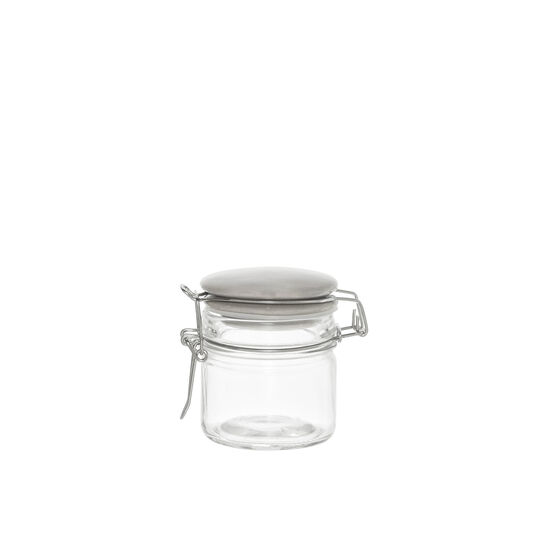 Medium glass spice pot