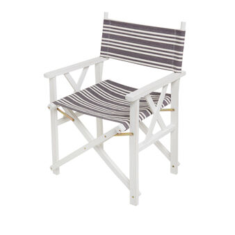 Beach director's chair in cotton and wood