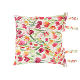 100% cotton seat pad with tulips print
