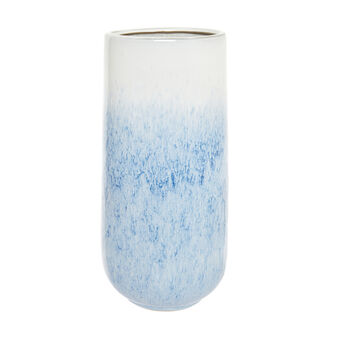 Shaded enamel ceramic vase