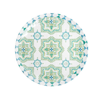 Melamine plate with Morocco decoration