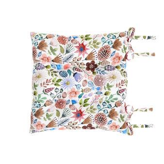 Cuscino da sedia twill di cotone stampa fiori