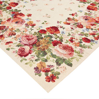 Gobelin table cover with floral motif