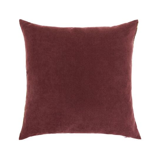Devoré velvet cushion with flowers 43x43cm