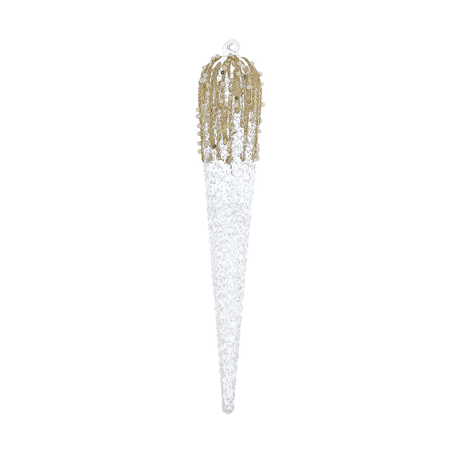 Hand-decorated glitter spindle