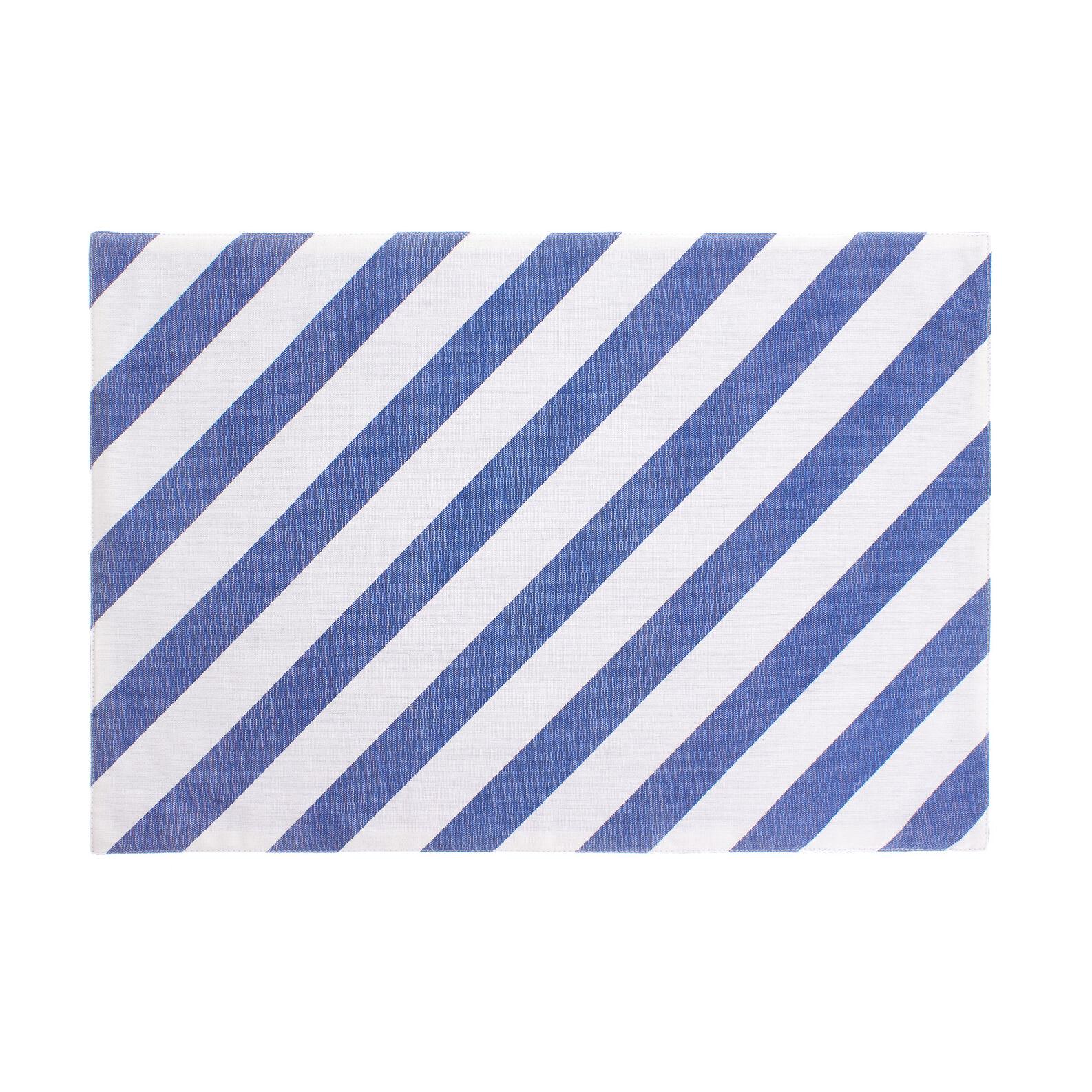 Tovaglietta puro cotone righe diagonali