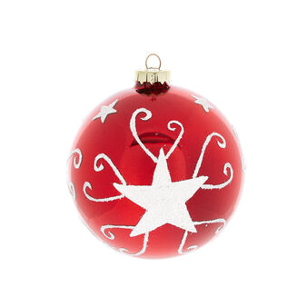 Hand-decorated mirror-effect glass bauble