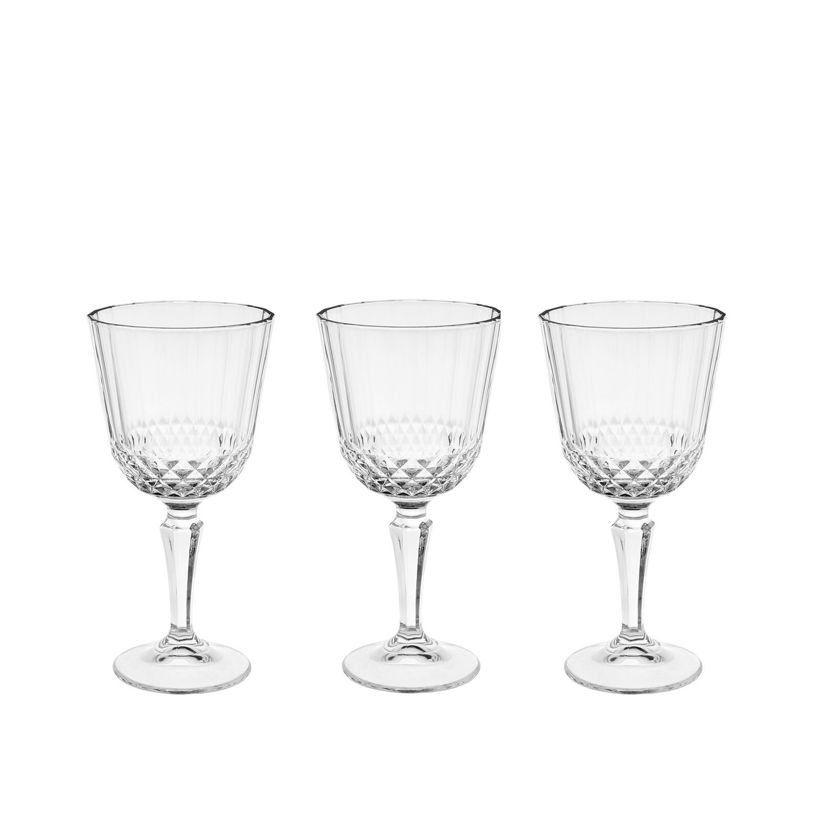 Set of 3 Diony wine goblets
