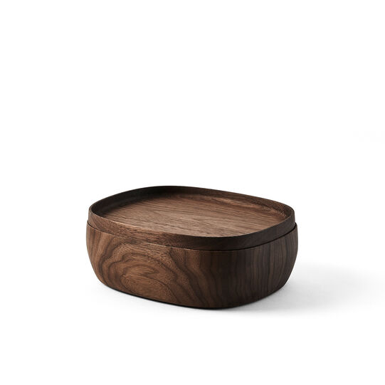 Container in walnut wood by Federica Biasi