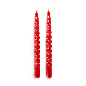 Set of 2 torchon lacquered candles