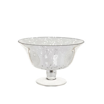 Silver glass bowl