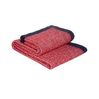 Plaid puro cotone tricot con profilo