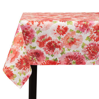 100% cotton tablecloth with geranium print